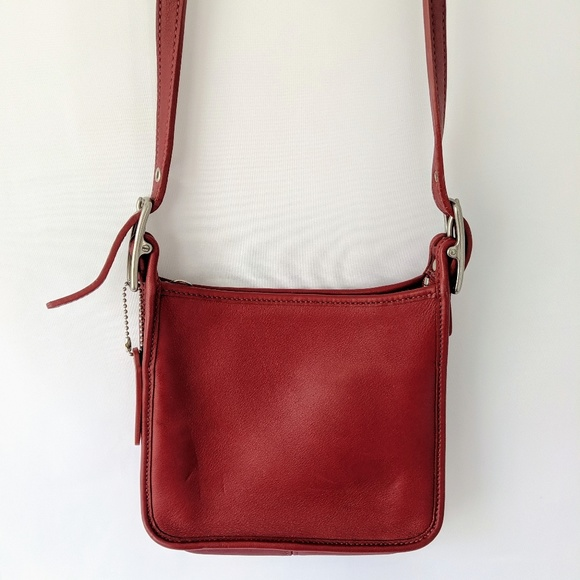 Coach Handbags - COACH all leather red small shoulder bag crossbody